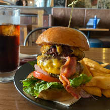 Photo of menu item: The Manly Mega Burger