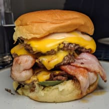 Photo of menu item: smash cheeseburger