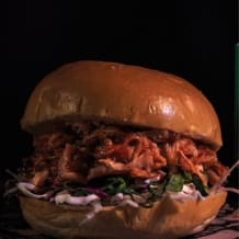 Photo of menu item: Bourbon Chipotle Pulled Pork