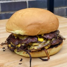 Photo of menu item: Fried onion burger
