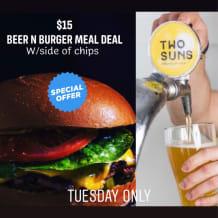 Photo of menu item: Beer n burger meal deal