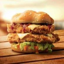 Photo of menu item: Zinger Stacker Burger