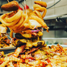 Photo of menu item: The Monster Burger Challenge