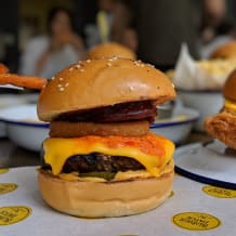 Photo of menu item: The Angry American