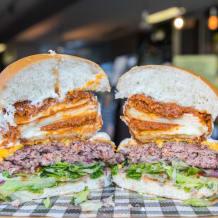 Photo of menu item: Lasagne Burger!