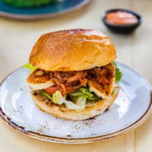 Photo of menu item: Halloumi and kimchi burger