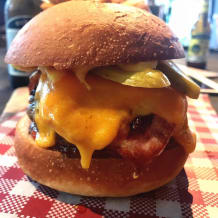 Photo of menu item: bacon & cheese burger