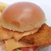 Photo of menu item: Uncle Jack's Hot Schnitzel Burger