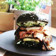 "Photo of menu item: Traffic Jam Burger ""The Lot"""