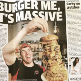Photo of menu item: 3KG THE CHAINSAW MASSACRE BURGER CHALLENGE
