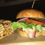 Photo of menu item: Bacon & Cheese Burger Deluxe