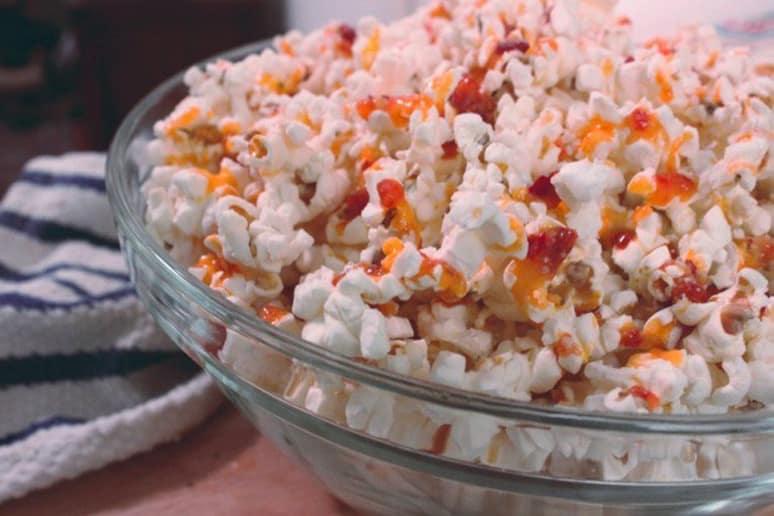 Popcorn with Sriracha Butter