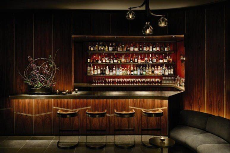 The bar at Forty Four in New York