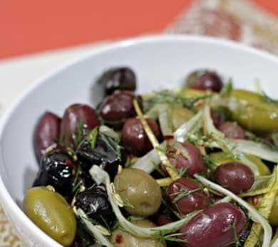 Marinated Olives with Fennel