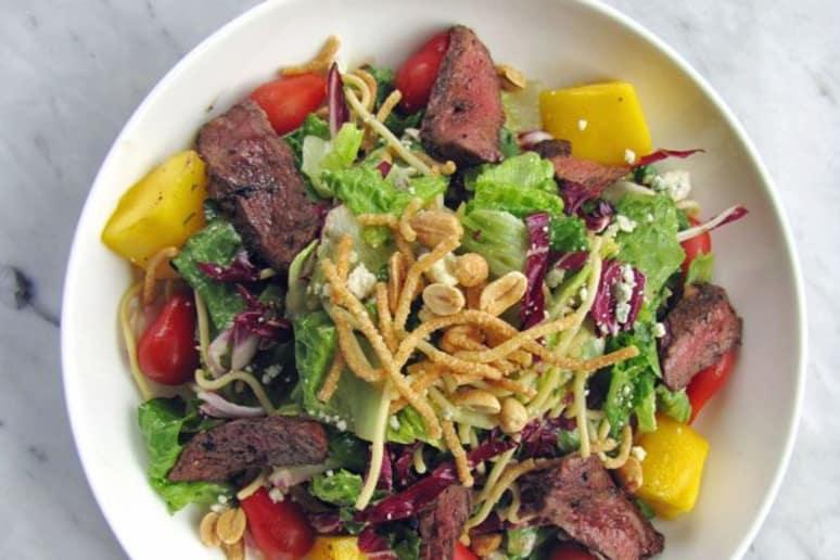 Thai Steak Salad with Cold Noodles