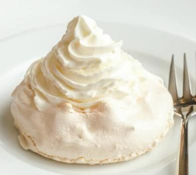 Monte Bianco Meringue with Chestnut Purée and Whipped Cream