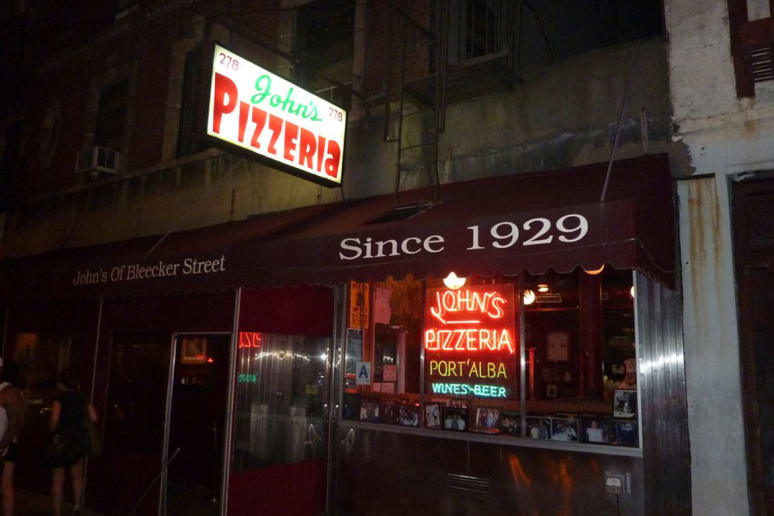 "#2 John's of Bleecker Street, New York, N.Y. (""The Boom Pie"": Oven-roasted tomato, garlic, and basil)"