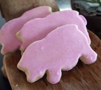 Pink Pig Shortbread Cookies