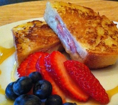Brie- and Ham-Stuffed French Toast