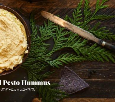 Pesto Kefir Hummus