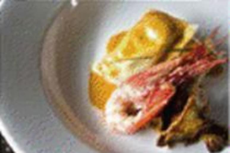 Lobster Potstickers made by chef Adam Dulye.