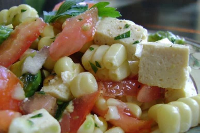 White Corn and Tomato Salad