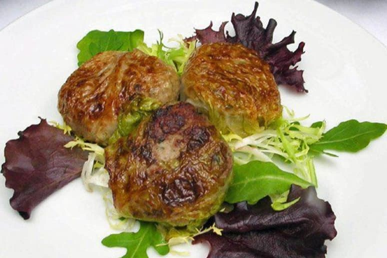 Meatball-Stuffed Cabbage Leaves