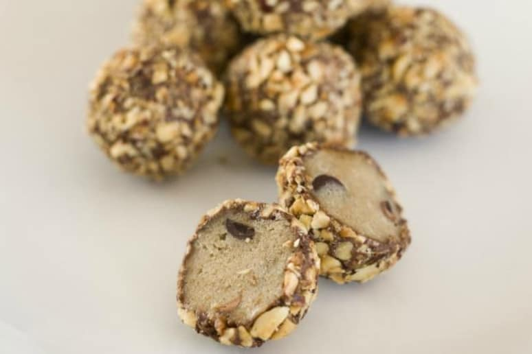 Cookie Dough and Hazelnut Truffles