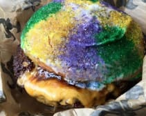 """This burger gives """"Fat Tuesday"""" a whole new meaning."""