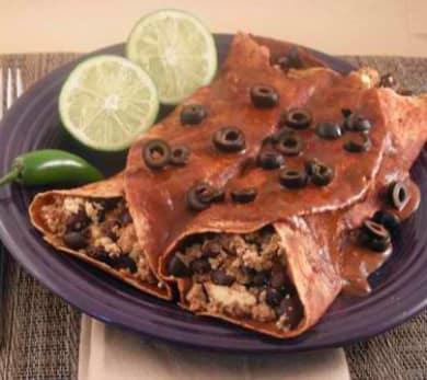 Smoky Black Bean Enchiladas