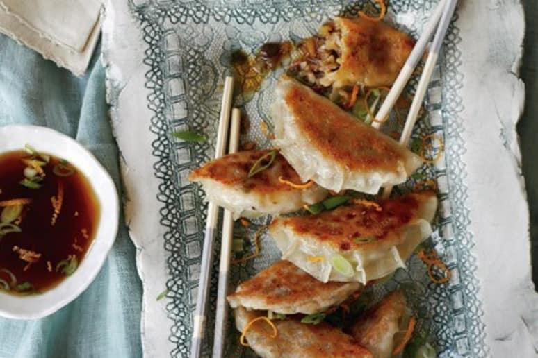 Vegetable Gyoza with Orange Ponzu Sauce