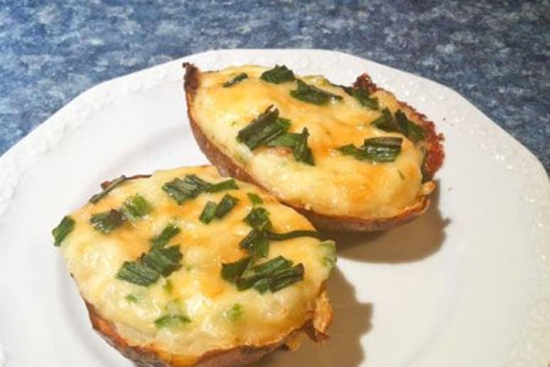 Smoked Cheddar and Jalapeño Twice-Baked Potatoes
