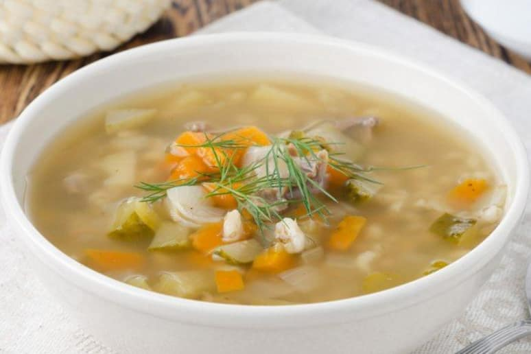Lemon Chicken and Orzo Soup