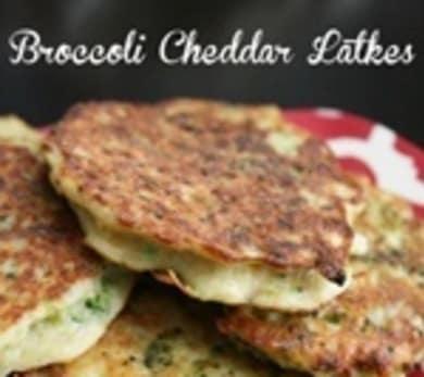 Broccoli Cheddar Latkes