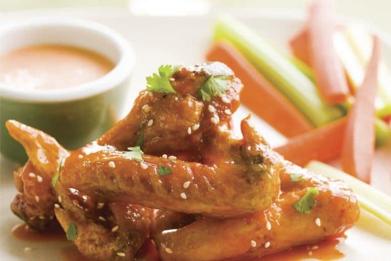 Honey-Sriracha Glazed Buffalo Wings