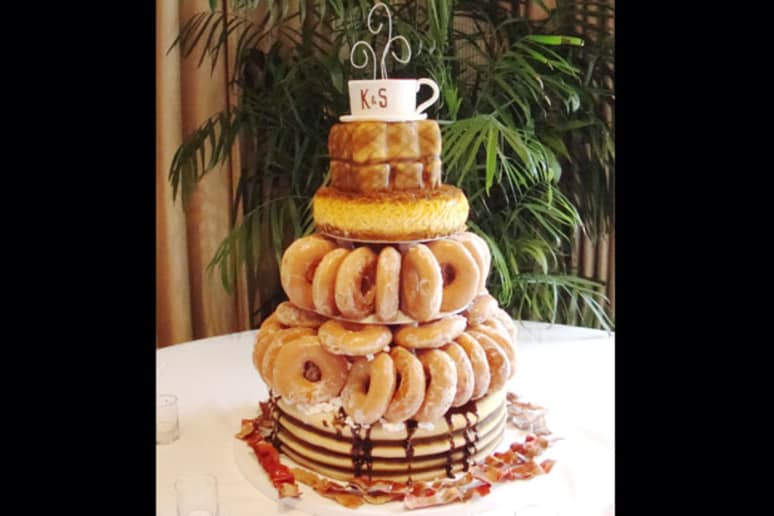 Donut cake from 10 unusual wedding cakes slideshow the daily meal donut cake junglespirit Gallery