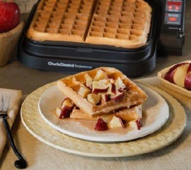 Maple-Glazed Apple Fritter Waffles