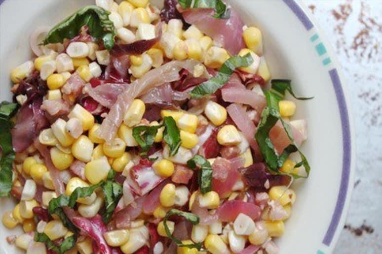 Corn Salad with Radicchio & Red Onion Recipe