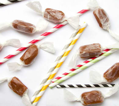 Chewy Salted Vanilla Caramels