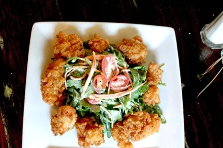 Fried Alligator Salad