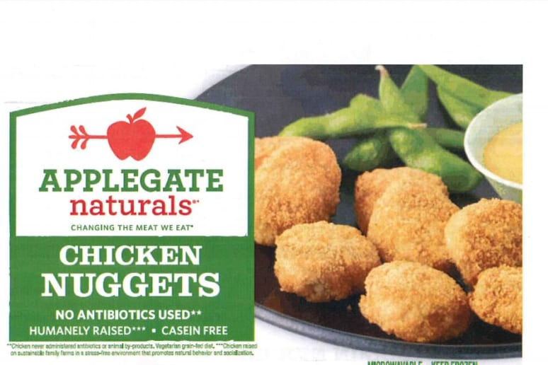 4,530 Pounds of Applegate Chicken Nuggets Recalled for Possible Plastic Contamination