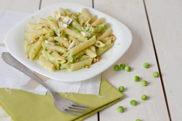 Pesto, Peas, and Pine Nuts Pasta Salad