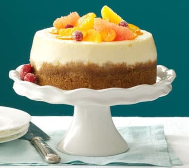 Pink grapefruit cheese cake