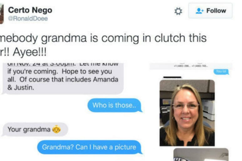 She was innocently trying to make plans with her family and now her phone faux pas went viral.
