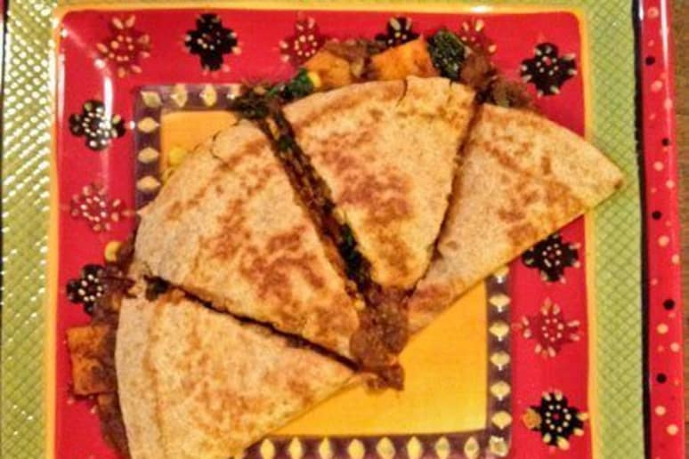 Vegan Roasted Sweet Potato Quesadillas