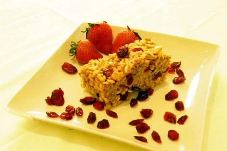 Cranberry Strawberry Breakfast Bars