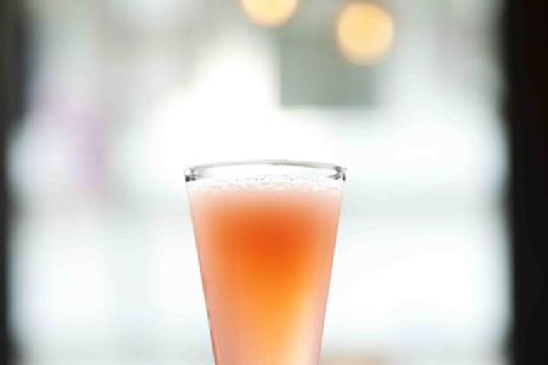 The H 75 Cocktail is made with FAIR Vodka.