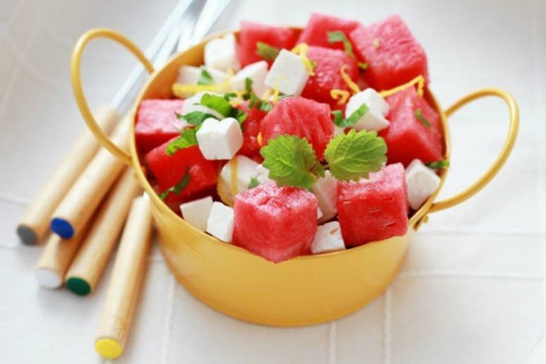 watermelon and feta