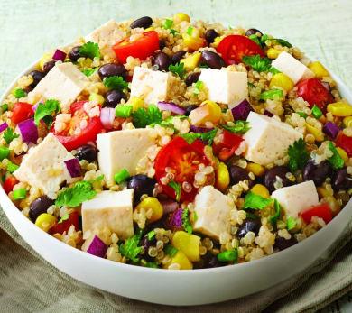 house foods tofu quinoa salad