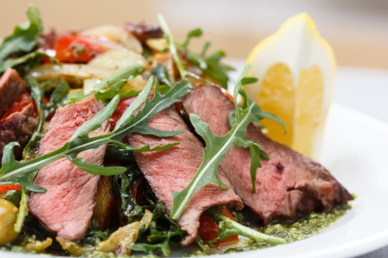 Spring Salad With Marinated Skirt Steak Recipe